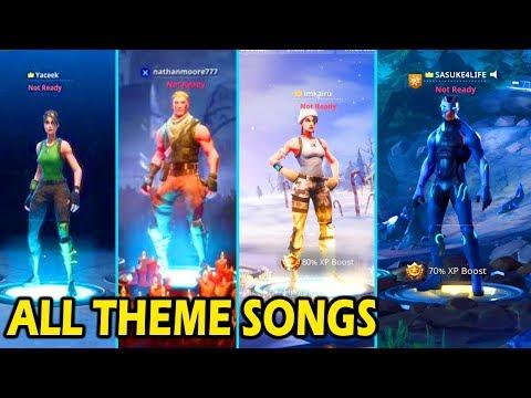 ALL FORTNITE THEME SONGS! (SEASON 1 - 4)