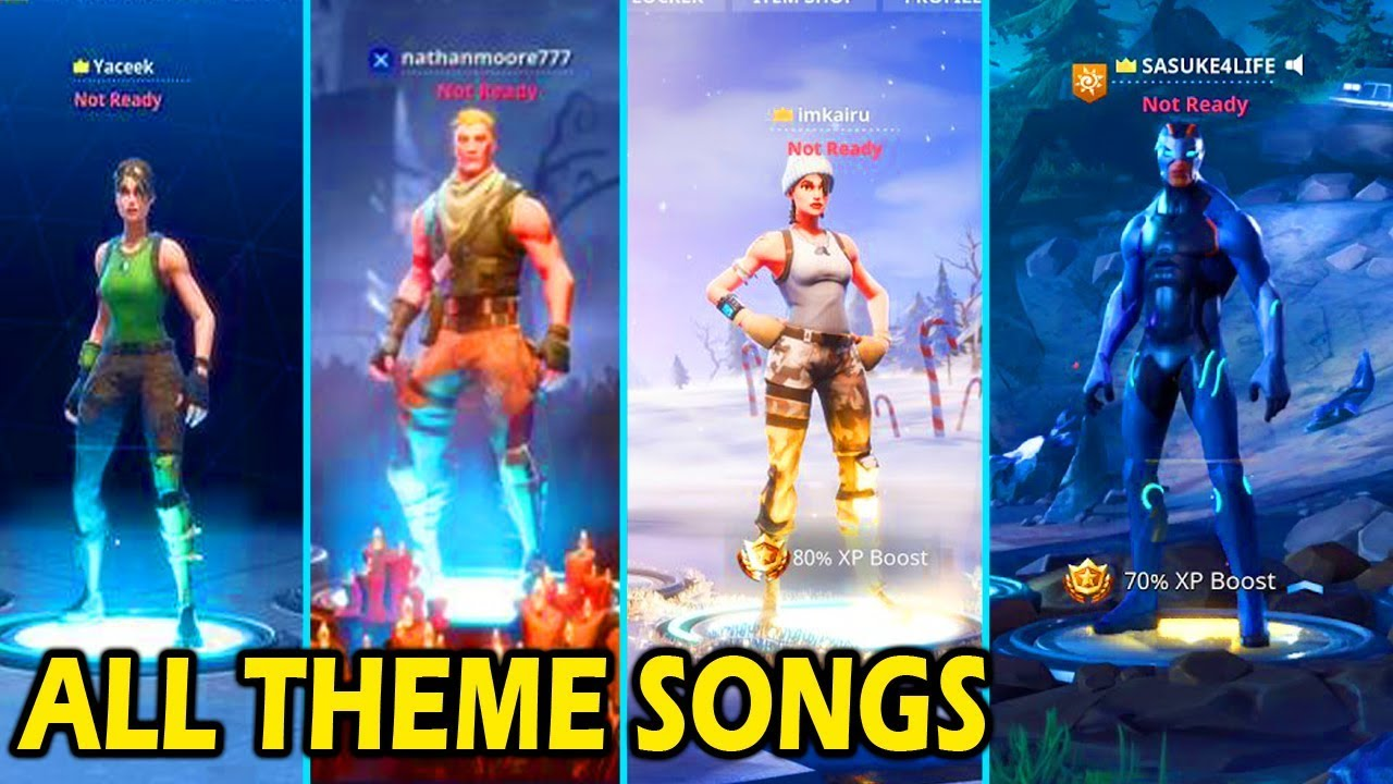 all fortnite theme songs! (season 1 - 4) - youtube