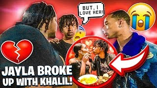 KHALIL GOT HIS HEART BROKE BY JALIYAH SISTER!💔 (THEY BROKE UP)