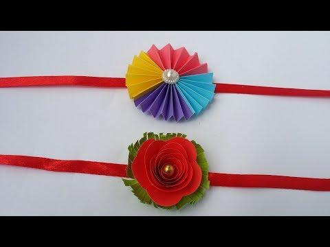 DIY: Easy Rakhi Designs!!! How to Make Easy Paper Rakhi at Home/Handmade Rakhi!!!