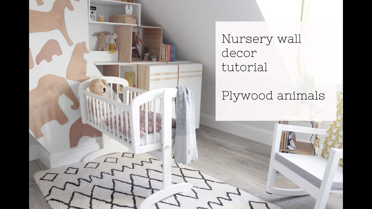 Nursery Decor Plywood Animal Wall