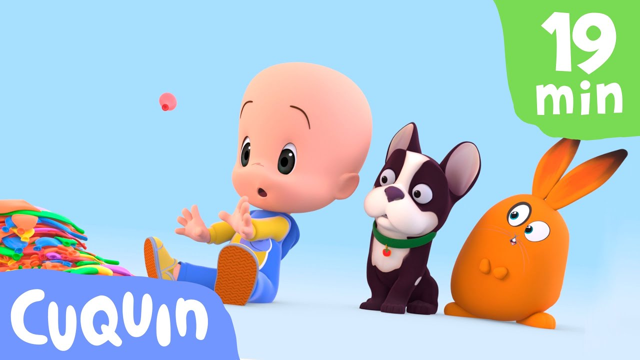 Aprenda as cores e mais com Cuquin e seus balões 🎈 | Desenhos animados para bebês