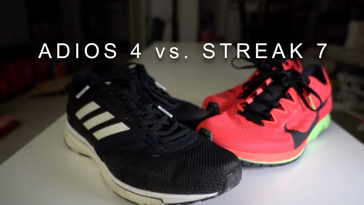 picked up cute lowest price Adidas Adizero Adios 4 vs. Nike Zoom Streak 7