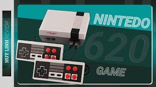 Trên tay mở hộp và trãi nghiệm nhanh bộ máy chơi game 4 nút 2 người chơi tích hợp sẵn 620 game