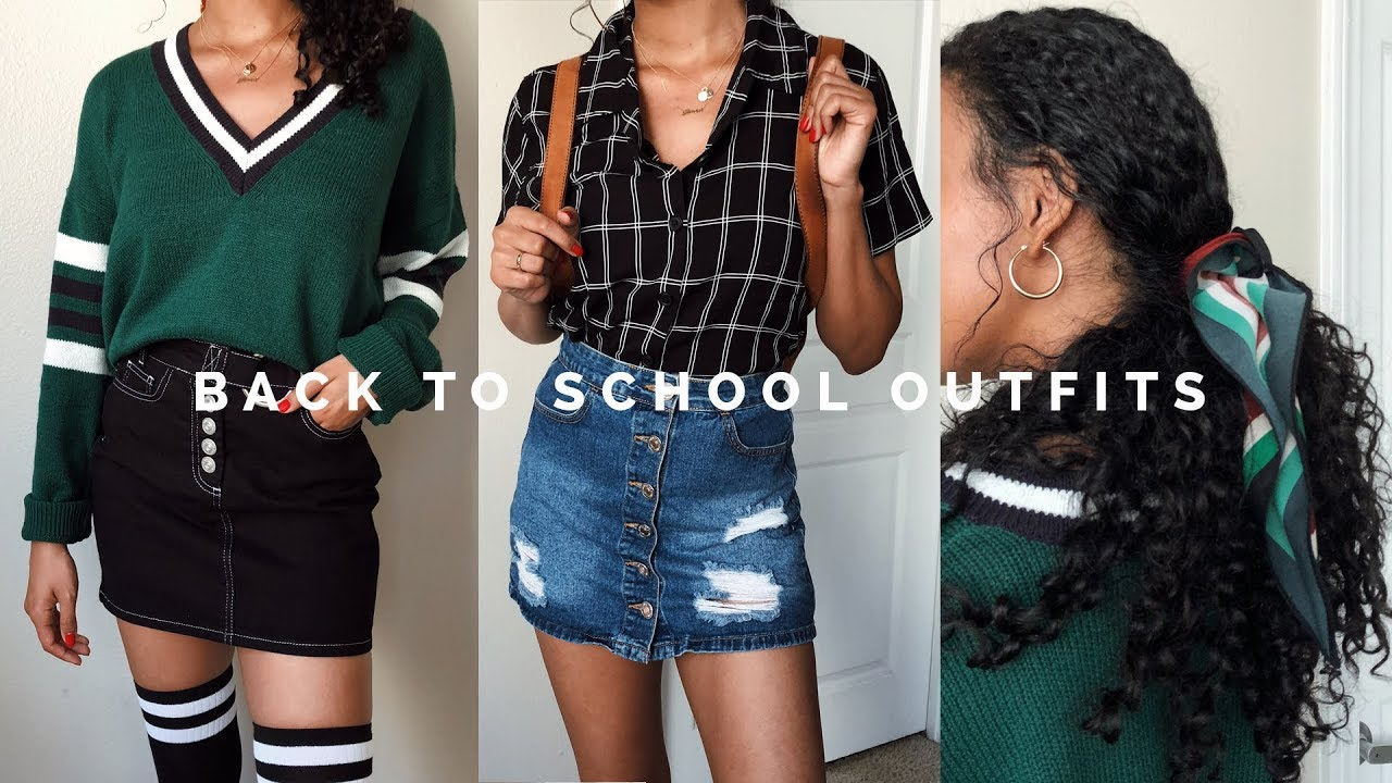 How to Style Outfits for School (talk through)