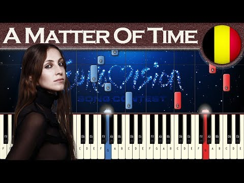 Sennek - A Matter Of Time (Belgium 2018) | Piano tutorial | Eurovision Song Contest + MIDI