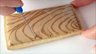 How To Make A Wood Grain Cookie With Royal Icing