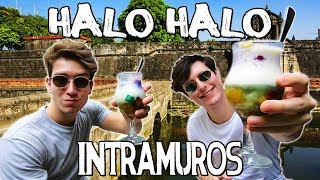Foreigners Try HALO HALO & Explore INTRAMUROS - Philippines Travel Vlog