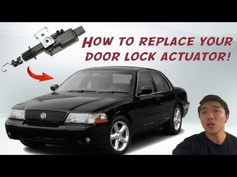 HOW TO: Mercury Marauder Door Lock Actuator Replacement [NO RIVET TECHNIQUE]