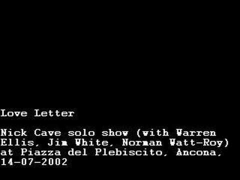 Love Letter, Nick Cave