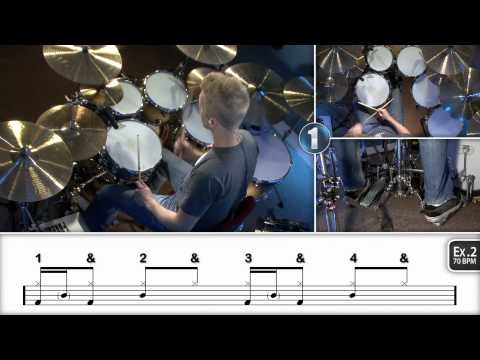 Beginner Ghost Notes - Drum Lesson (DRUMEO)
