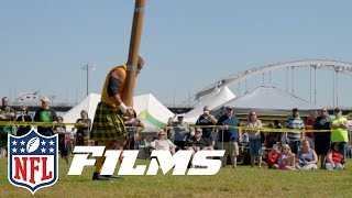 Julian Vandervelde: Released 21 Times to Launching Logs at the Highland Games | NFL Films Presents
