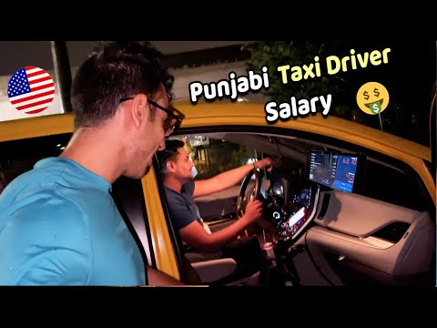 Ride with Indian (Punjabi) Taxi Driver in NYC! Salary & Life Story!!