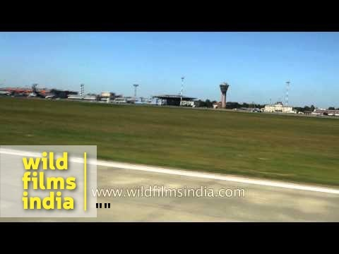 Flight landing at Seremetyevo Airport in Moscow