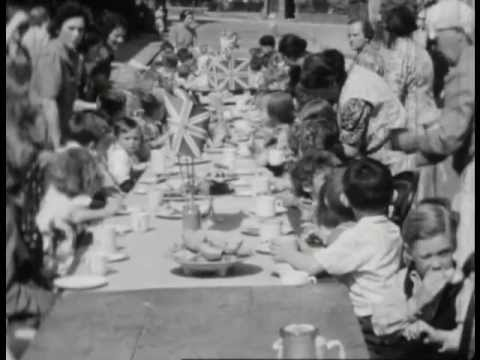 VE and VJ Day Street Parties on Ridsdale Road, Anerley SE20 (1945)