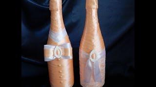 """Мастер-класс:Свадебное шампанское """"Жених и невеста"""""""