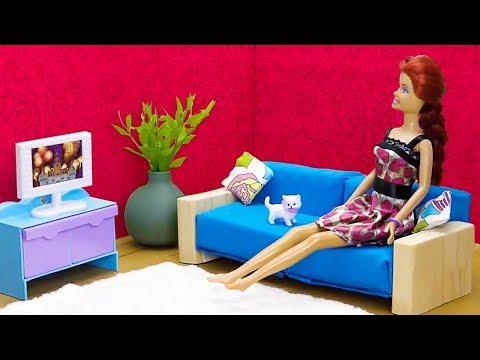 Как сделать мебель для кукольного домика