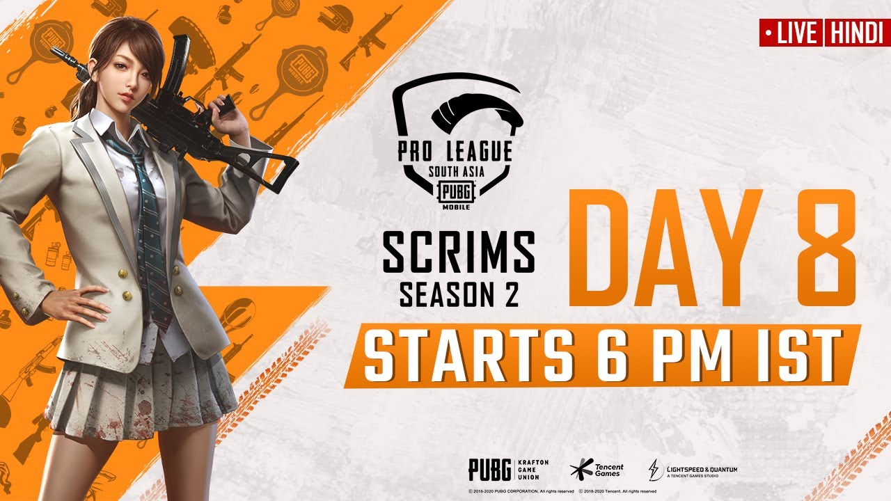 [Hindi] PMPL South Asia Scrims S2 Day 8 | PUBG MOBILE Pro League