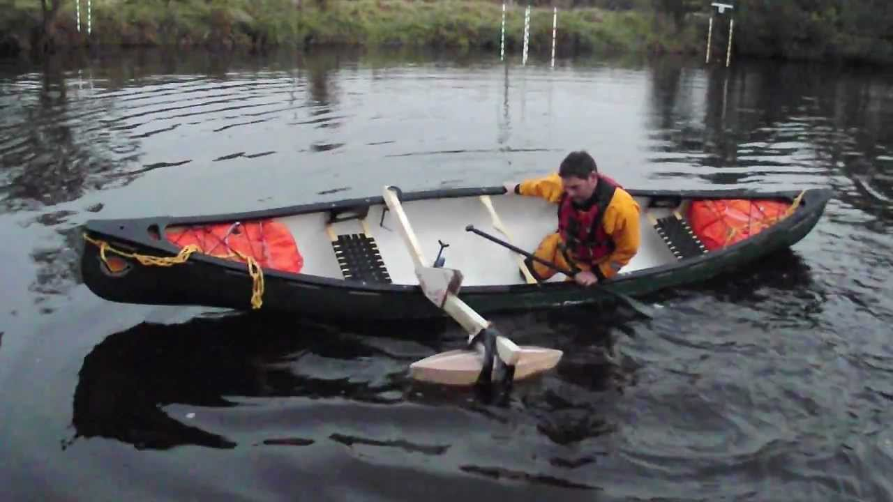 Canoe Outrigger float test.AVI - YouTube