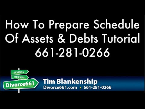 Completing California Divorce Schedule Of Assets And Debts Form FL ...
