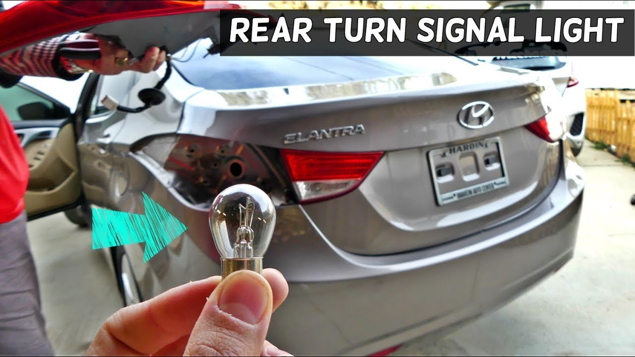 How To Replace Rear Turn Signal Light Bulb On Hyundai