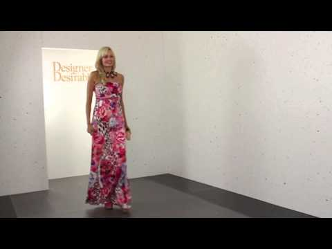 05fd30ab3f Stella Morgan Pink Floral   Leopard Print Bandeau Maxi Dress - YouTube