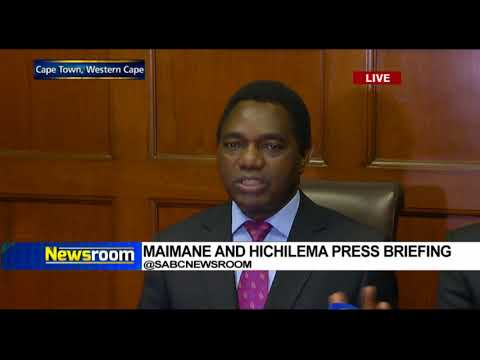 Maimane and Hichilema media briefing
