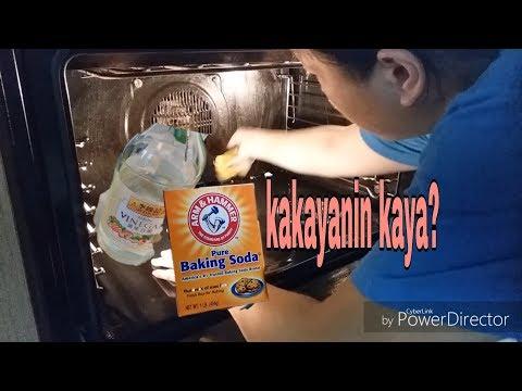 oven cleaning using baking soda and vinegar | matinding grease alisin | vlog #24