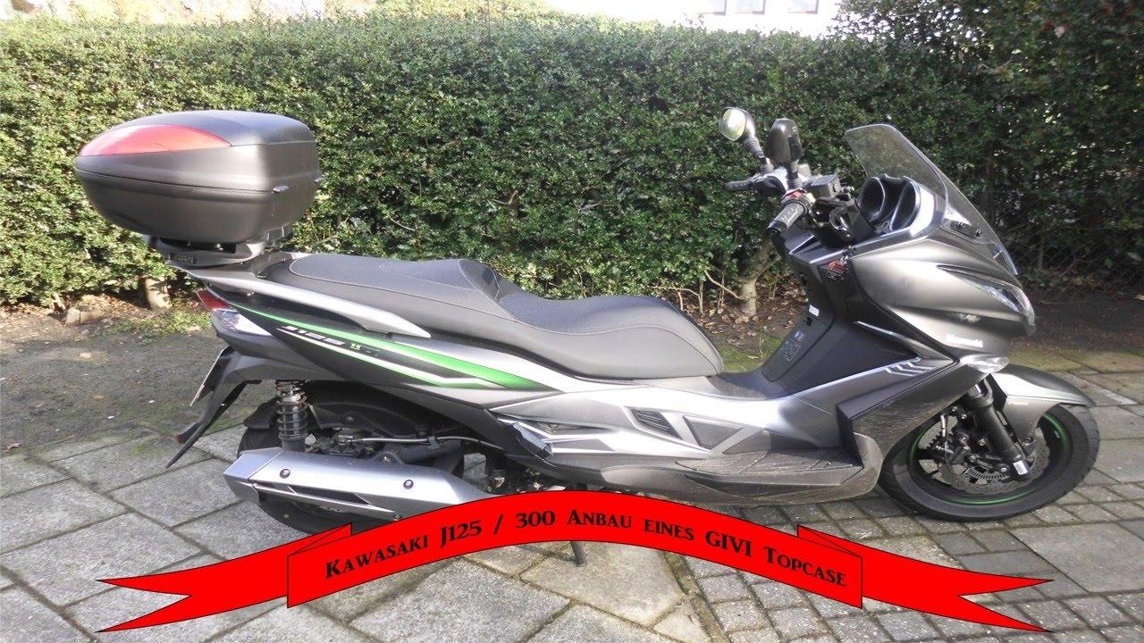 Kawasaki J125 Anbau Eines Givi Topcase Youtube
