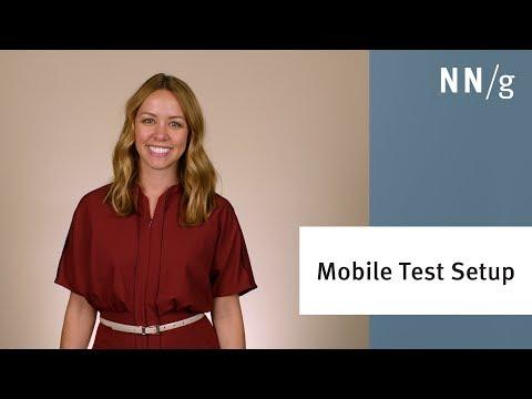 How To Setup a Mobile Usability Test