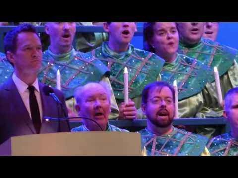 Neil Patrick Harris at Epcot's Candlelight Processional