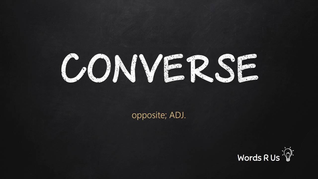 converse shoes pronunciation