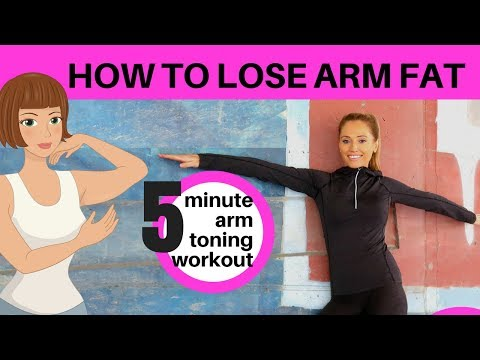 HOW TO LOSE ARM FAT - 5 MINUTE HOME ARM EXERCISES FOR WOMEN - Tone up and lose arm fat