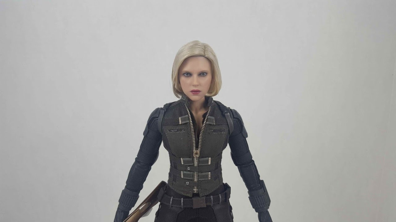 7cb0be80a1d6c Hot Toys Avengers Infinity War Black Widow Simple Hair Styling - YouTube
