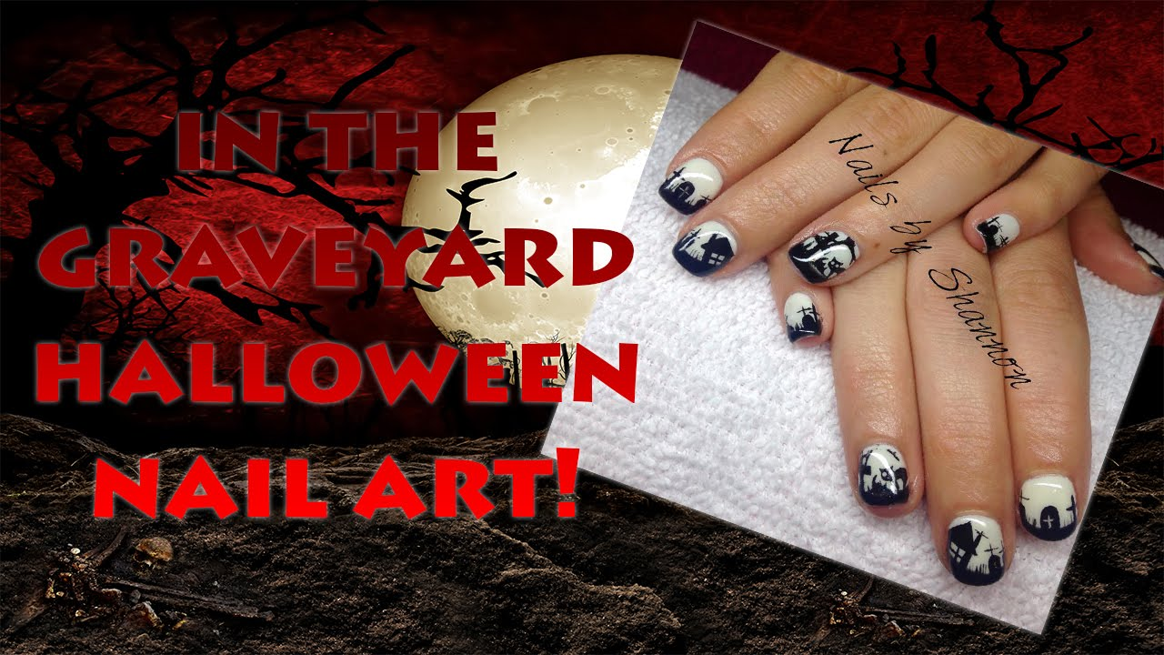 Halloween How To: Graveyard Nail Art - YouTube