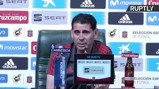 Пресс конференция нового главного тренера сборной Испании по футболу Фернандо Йерро