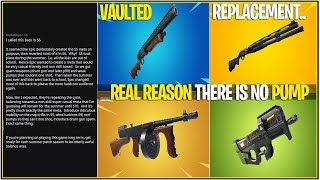 *NEW* Fortnite: The REAL Reason the Pump Was VAULTED! (Returns Season 10)