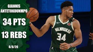 Giannis Antetokounmpo posts a double-double for Bucks vs. Mavericks   2019-20 NBA Highlights
