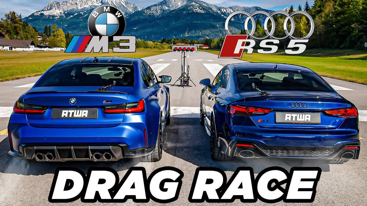 Download BMW M3 Competition vs. Audi RS5 | DRAG RACE | Daniel Abt
