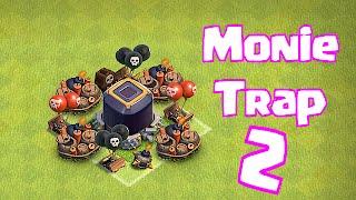 """Clash Of Clans """"MONIE TRAP 2"""" (Champ Troll Base)"""