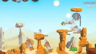 Angry Birds Star Wars 2 Escape To Tatooine B2-S1 3 star walkthrough