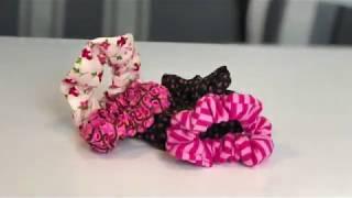 DIY Haargummi selber Nähen - Scrunchie
