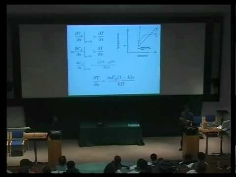Metals and Alloys, lecture 4, Solidification