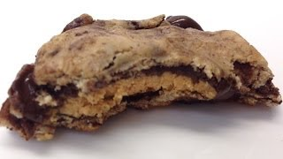 Quest Peanut Butter Cup Stuffed Chocolate Chip Cookies!