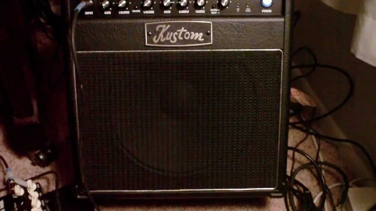Kustom 1x12 Cabinet Kustom Kg112fx Review Youtube