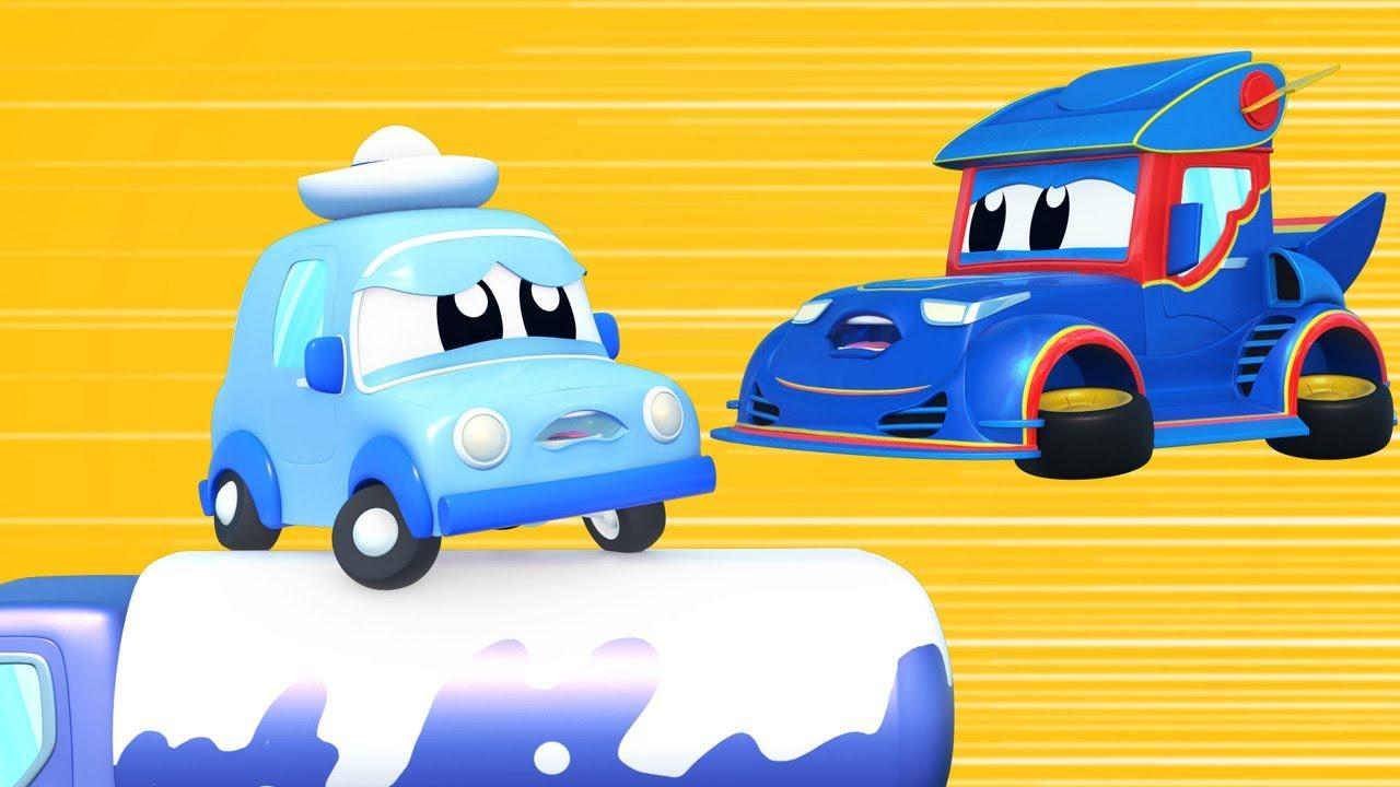 Truk super Bayi mobil butuh bantuan, Truk Super! Kota Mobil - Kartun truk untuk anak-anak