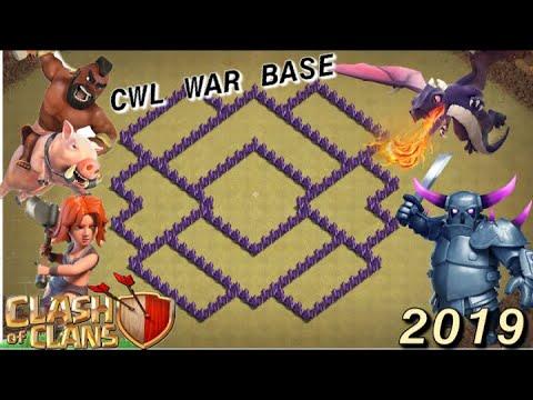 Town Hall 7 War Base( Anti Dragon,Hog,P.E.K.K.A,and Valkyrie)Clan War League Anti 3 Star Base