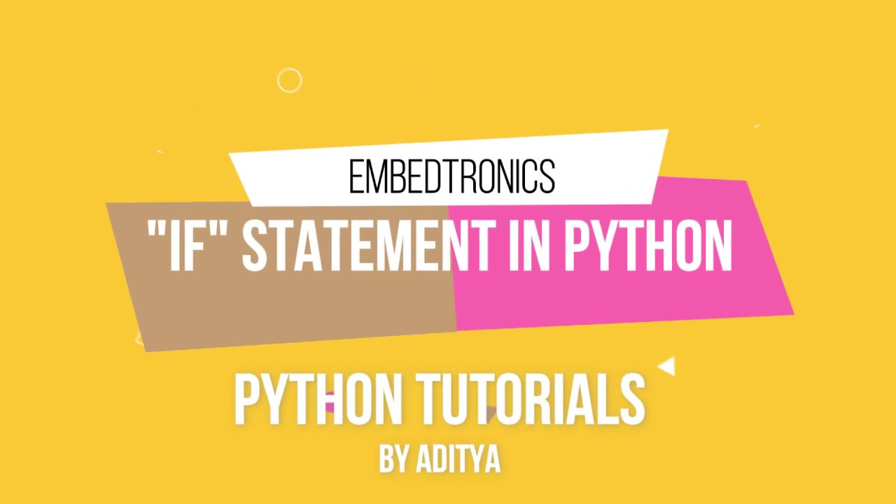 if statement in python  youtube