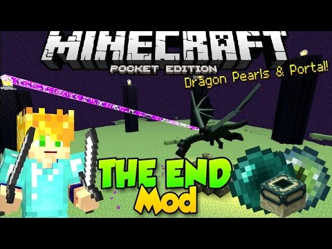 how to make a ender dragon portal in minecraft pe
