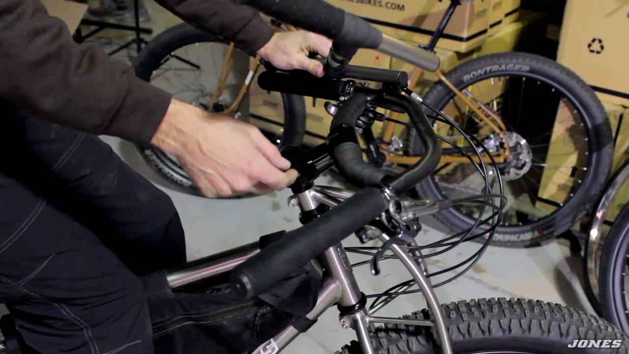 Bicycle handlebar  The Jones Loop H-Bar  Dirt Road Tour Pack Gravel